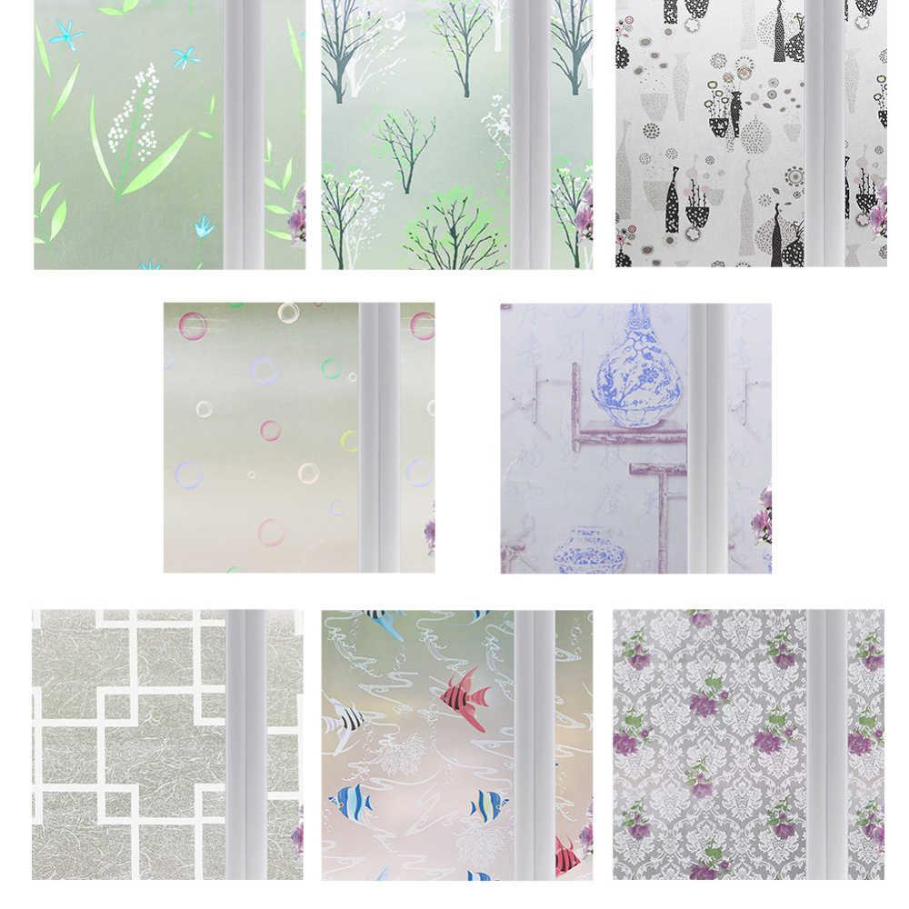 60*200 Cm Jendela Self-Adhesive Sticker Isolasi Sun Protection Printing Kaca Film Kertas Stiker Film untuk Rumah dekorasi
