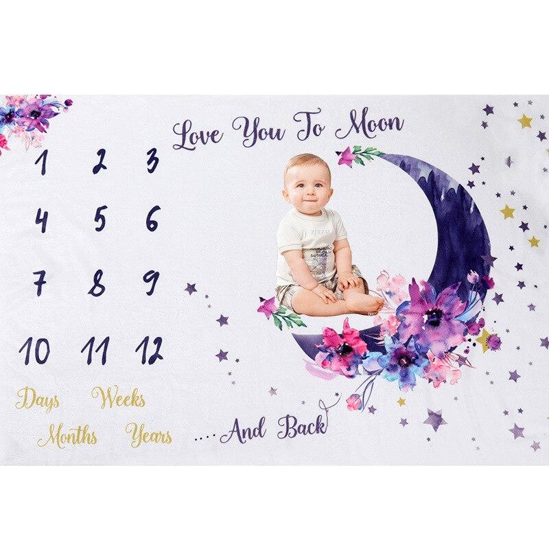 75x100 см детское ежемесячное одеяло, фланелевый фон для фотосъемки для девочек и мальчиков, одеяло для фотосъемки новорожденных