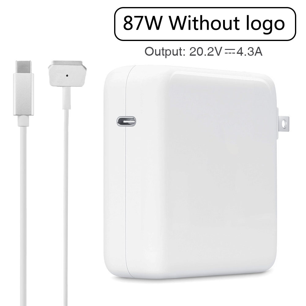 "87W PD Power Adapter USB Type-C Charger with 2M USB-C to MGS2 cable for Apple Macbook Pro Retina/air  13""11""15""17""(After  2012)"