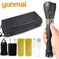 Yunmai XHP90 светодиодный светильник с мощным зумом фонарь usb ярче  чем xhp70.2 Кемпинг уличный светильник перезаряжаемый аккумулятор 18650/26650