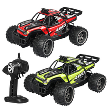 1:16 2.4G RC High-Speed Off-Road Vehicle Powerful Motor Anti-Collision Remote Control Car Toy - Green/Red