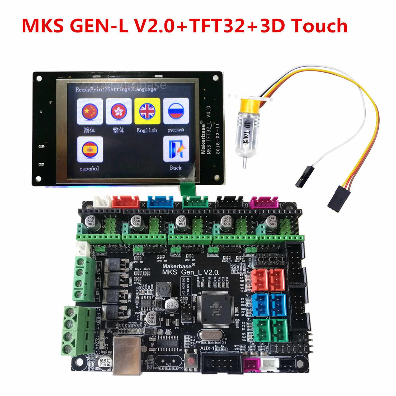 MKS GEN_L 2.0 + MKS TFT32 Màn Hình Cảm Ứng + Bltouch Giường San Bằng Cảm Biến Reprap Điều Khiển Bộ Dụng Cụ TFT 32 Màn Hình 3D máy In Người Học Phần