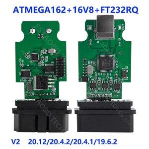 Image 5 - סופר COM 21.3.0 Hex V2 20.4.1 USB ממשק עבור פולקסווגן אאודי Skoda VAG 20.4.2 רב שפה ATMEGA162 + 16V8 + FT232RQ