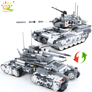 HUIQIBAO 1640pcs Military 99A Battle Tank Armored Vehicle Building Blocks WW2 Weapon Soldiers Figures City Chariot Bricks Toys(China)