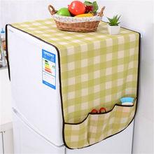 Новые чехлы для стиральной машины, Пыленепроницаемый Чехол для холодильника, карманы для хранения, сумка-Органайзер для кухни, случайный чехол с милым медведем