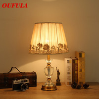 Crystal Table Lamps Desk Lights Luxury  Dimmer Modern Contemporary Fabric for Foyer Living Room Office Creative Bed Room Hotel