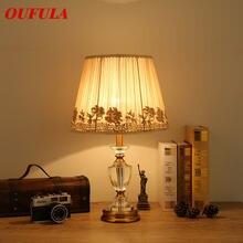 Oufula хрустальные настольные лампы светильники роскошная современная