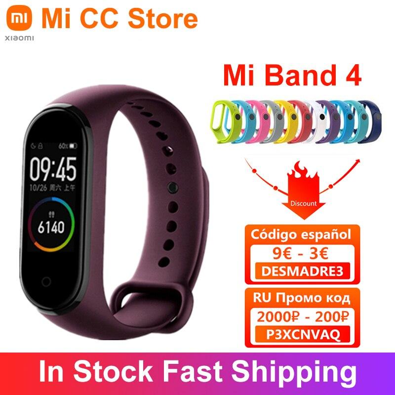 Xiaomi Mi Band 4 Bracelet Heart Rate Fitness Tracker Bluetooth5.0 Sport Waterproof 3 Color AMOLED Screen Smart Band|Smart Wristbands| - AliExpress