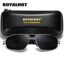 RoyalHot Men Women Alloy Cool Rectangle Frame Polarized Sunglasses  Driving Sun Glasses Shades Oculos masculino Male 900138