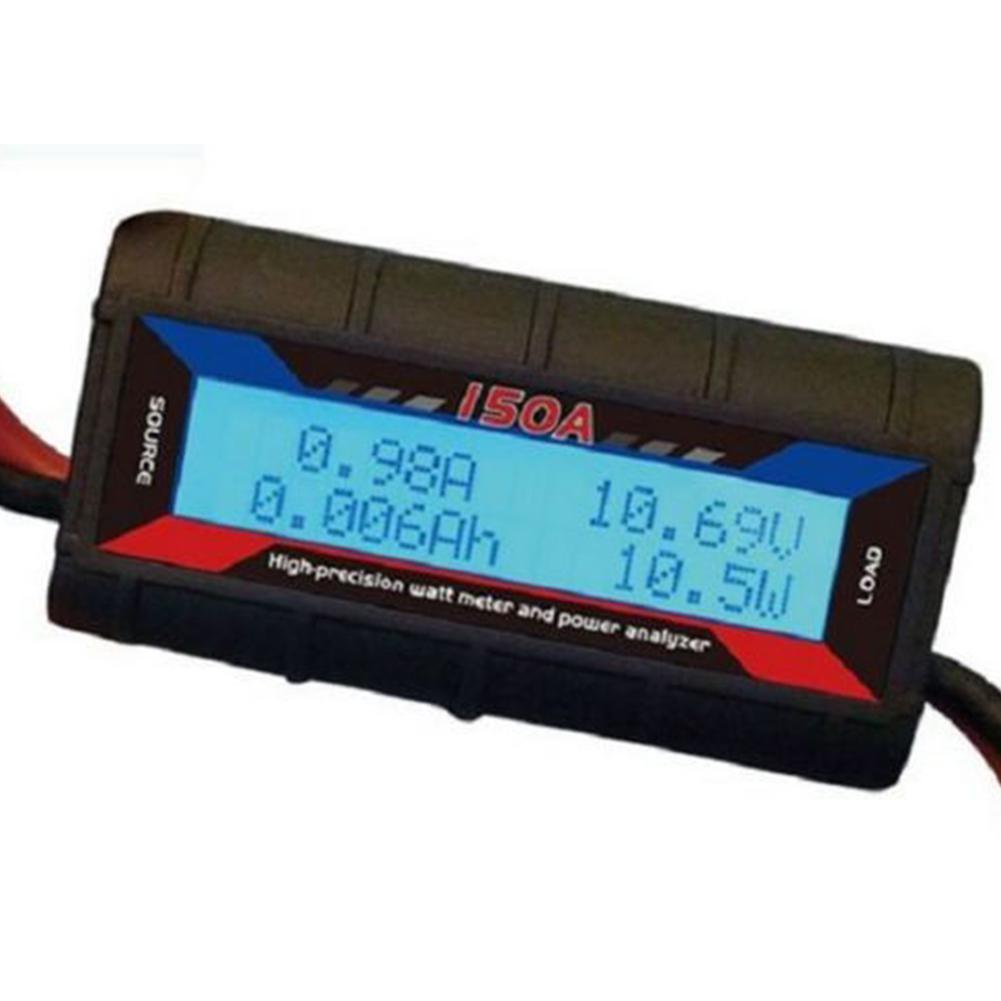 MeterMall 150 Ампер Ватт метр со специальным тяжелым WI-Fi проводом ветрогенератор солнечный DC онлайн (черный)