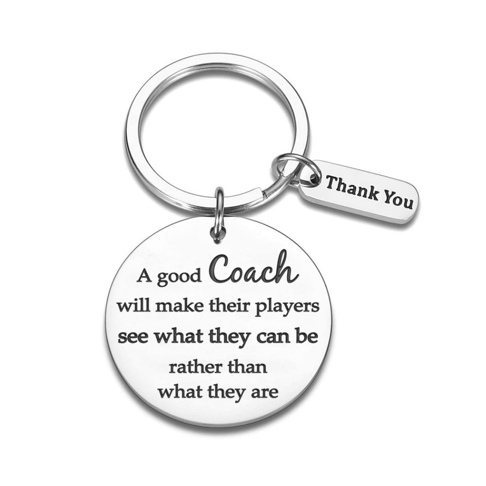 Sports Teacher Day Thank You Gifts for Men Woman Boys Girls Football Basketball Baseball Swimming Soccer Coaches Key Ring