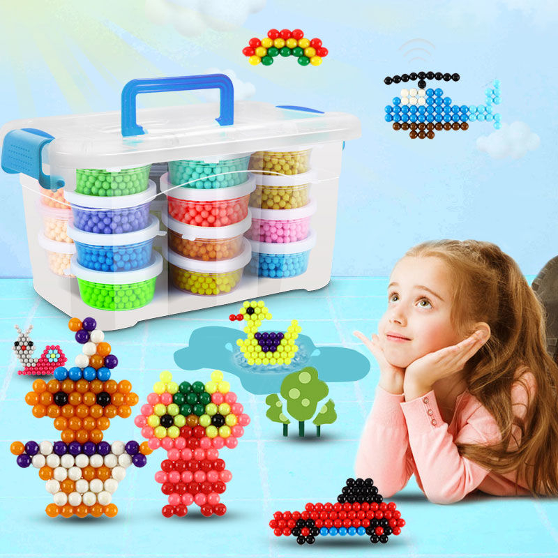 36 Colors 6000Pcs 5mm Water Spray Beads DIY 3D Puzzles Toy Hama Beads Magic Beads Educational Gift Water Perlen Learn Kids Toys