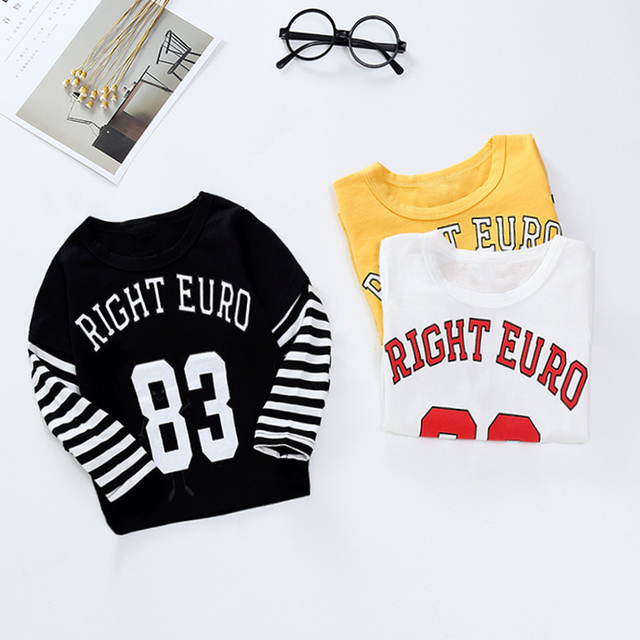 New Spring Boys Girls Cartoon Cotton T Shirts Children Tees Boy Girl Long Sleeve T Shirts Kids Tops Brand Baby Clothes 12M-8Y 4
