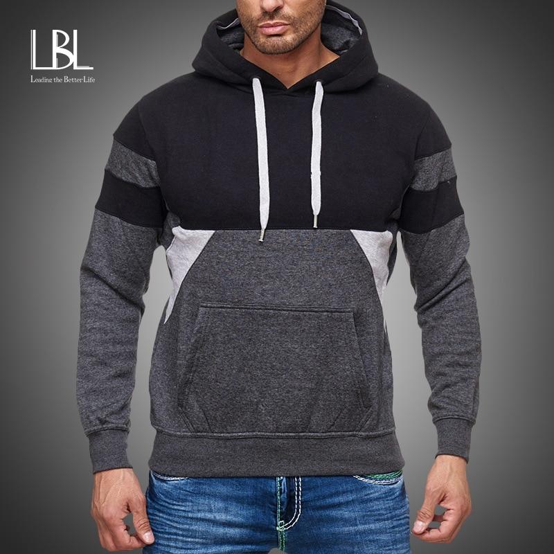 New Hoodie Men 2020 Spring Casual Solid Long Sleeve Mens Hoodies Sweatshirts Slim Summer Hoody Sweatshirt Men Hooded Streetwear