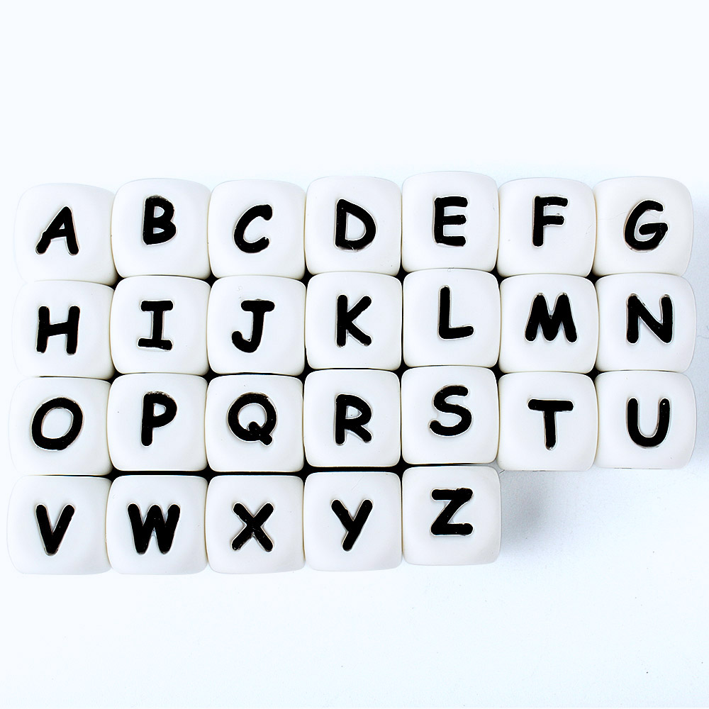 Letters-Beads Alphabet Shower-Gifts English Baby-Teething Grow Bpa-Free Silicone Keep title=