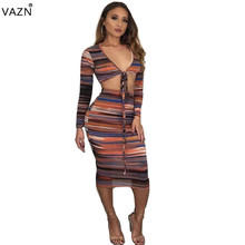 VAZN 2019 Novelty Special Beach Fashion Full Sleeve Bandage