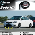 Für TOYOTA Avensis Lip/Frontspoiler Für TOP getriebe Freunde Auto Tuning/TOPGEAR Body Kit/Streifen rock-in Frontschürze aus Kraftfahrzeuge und Motorräder bei