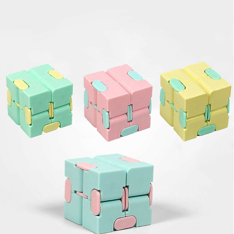 Children Adult Decompression Toy Infinity Magic Cube Square Puzzle Toys Relieve Stress Funny Hand Game Four Corner Maze Toys