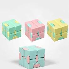 Enfants adulte décompression jouet infini magique Cube carré Puzzle jouets soulager le Stress drôle main jeu quatre coin labyrinthe jouets
