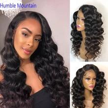 Волнистый 360 кружевной передний парик, предварительно выщипанный с детскими волосами, перуанские волосы Remy на кружеве, узкая текстура, человеческие волосы, парики натуральный черный