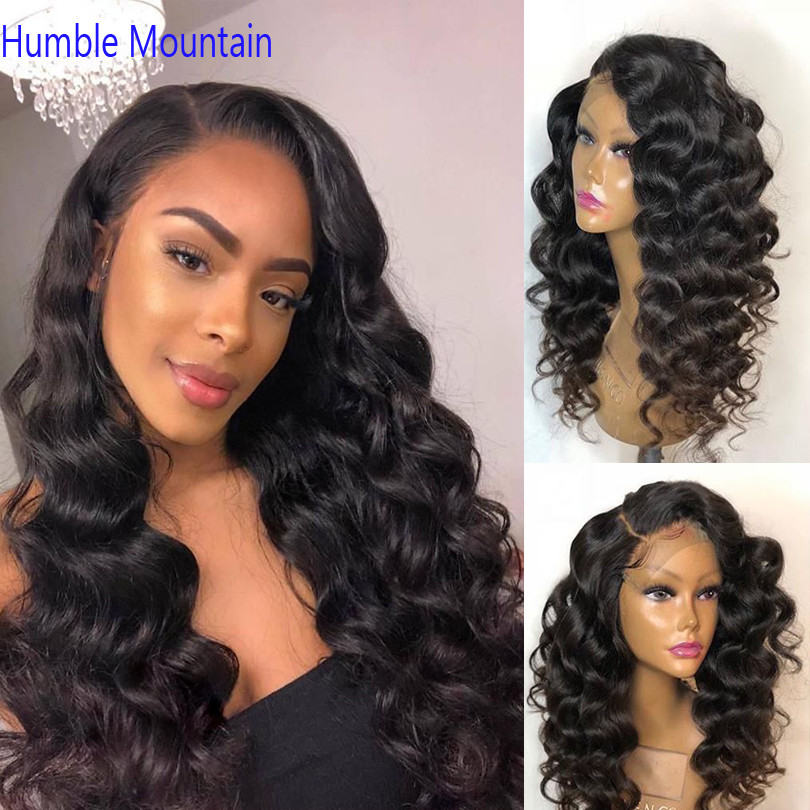 Water Wave 360 Lace Frontal Wig Pre Plucked With Baby Hair Peruvian Remy Lace Front Tight Texture Human Hair Wigs Natural Black