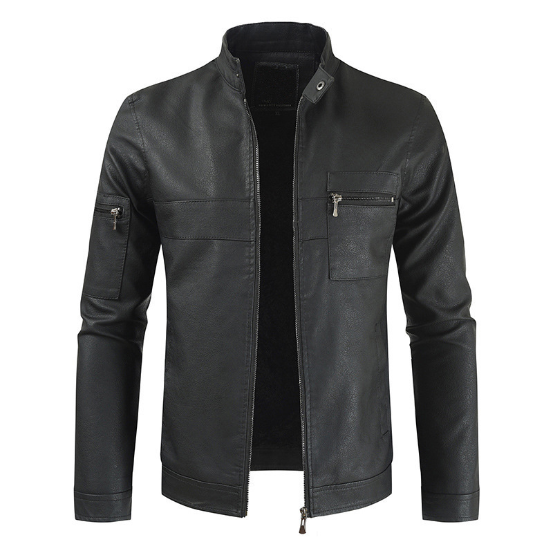 Mens Leather Jacket 2020 Winter Men's Casual Stand Collar Warm Motorcycle PU Leather Jacket Coat Male Jaqueta De Couro Outerwear