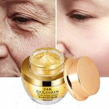 24K altın salyangoz yüz kremi kuru cilt bakımı kırışıklık karşıtı parlatıcı kollajen Anti-Aging beyazlatma nemlendirici krem kore