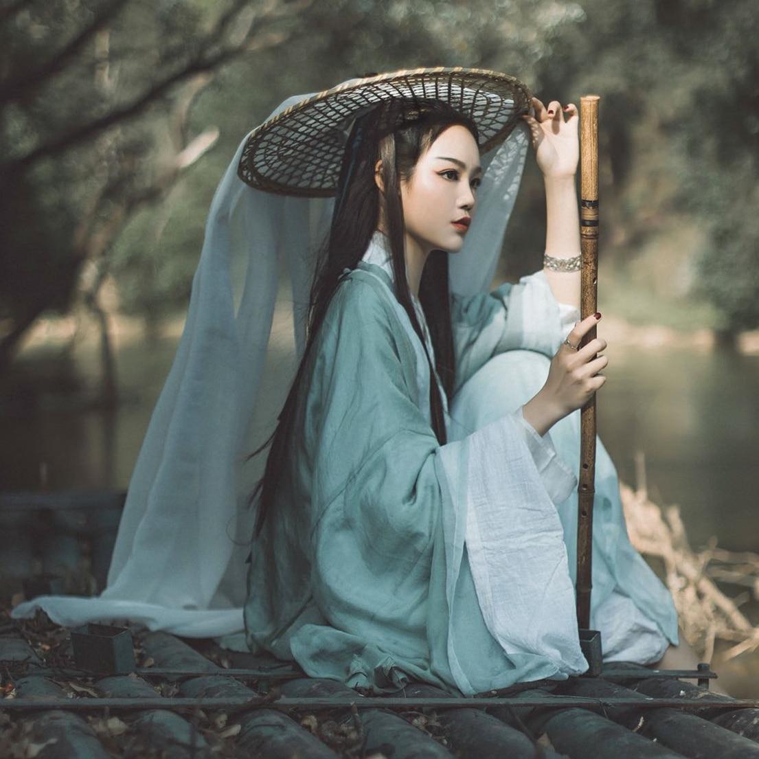 Tang hanedanı antik Hanfu elbise kadın kılıç ustası ulusal kostüm peri kıyafet geleneksel çin prenses sahne giyim