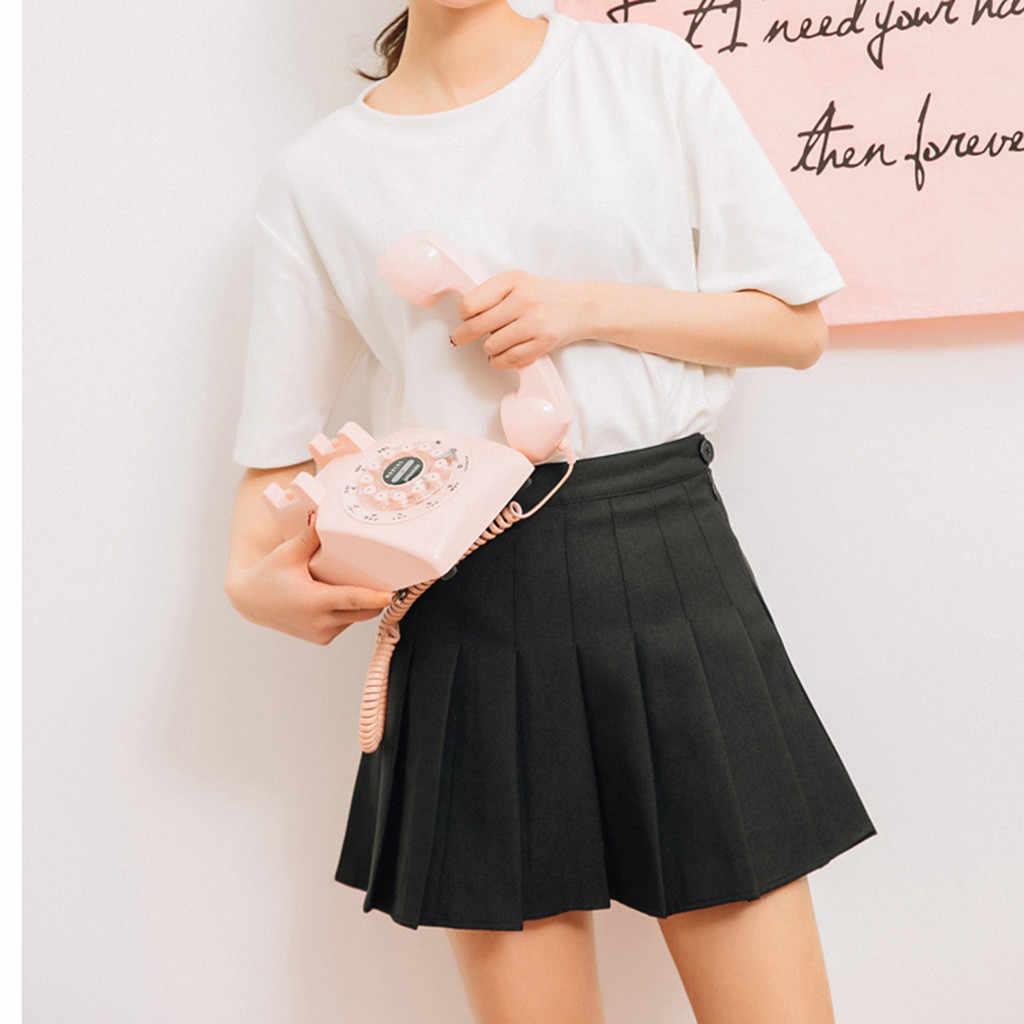 Mädchen EIN Gitter Kurze Kleid Hohe Taille Gefaltete Tennis Rock für Badminton Cheerleader sailor rock Japanische schuluniform