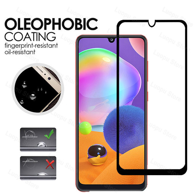 tempered glass for samsung galaxy a21 a31 a41 a21s a 31 a12 a42 a02 glass camera lens screen protector for sasmung a31 a41 a42 4