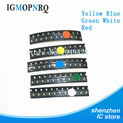 5 Colors x20 Pcs =100pcs SMD 0603 LED Kit Super Red/Green/Blue/Yellow/White Water Clear LED Light Diode Set