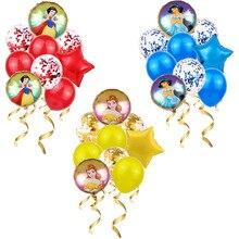 1 Набор белоснежные воздушные шары в виде колокольчика, фольгированный воздушный шар принцессы, украшения для вечеринки на день рождения, д...
