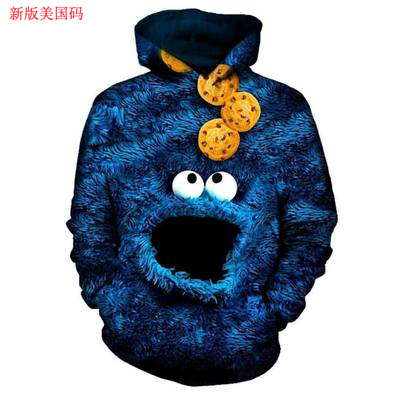 PLstar Cosmos US Szie Fashion men <font><b>hoodies</b></font> 90s Cartoon Gang Character collage <font><b>3D</b></font> Printed Hoodie <font><b>Unisex</b></font> streetwear Hood Sweatshirt image