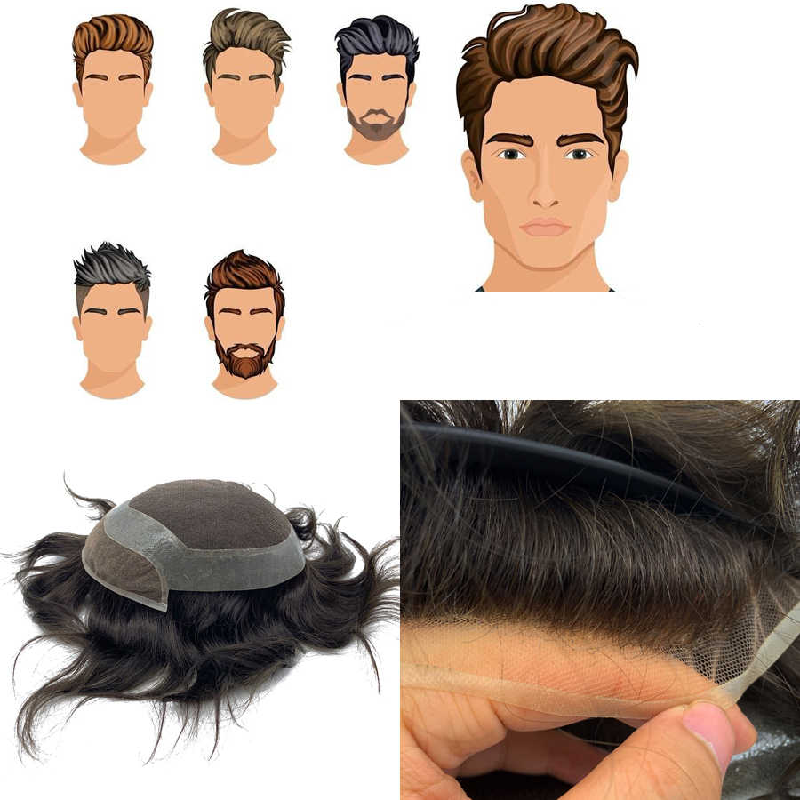 Hollywood base style men toupee human hair 100% remy hair swiss lace good quality