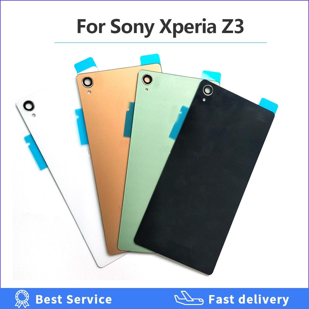 Стеклянная задняя крышка батарейного отсека для Sony Xperia Z3 запасные части для L55T D6603 D6643 D6653 D6633 с NFC
