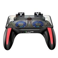 2020 venda quente pug game controller h10 gamepad para o jogo do telefone móvel shooter joystick pugb ajudante gamepad com dois fãs