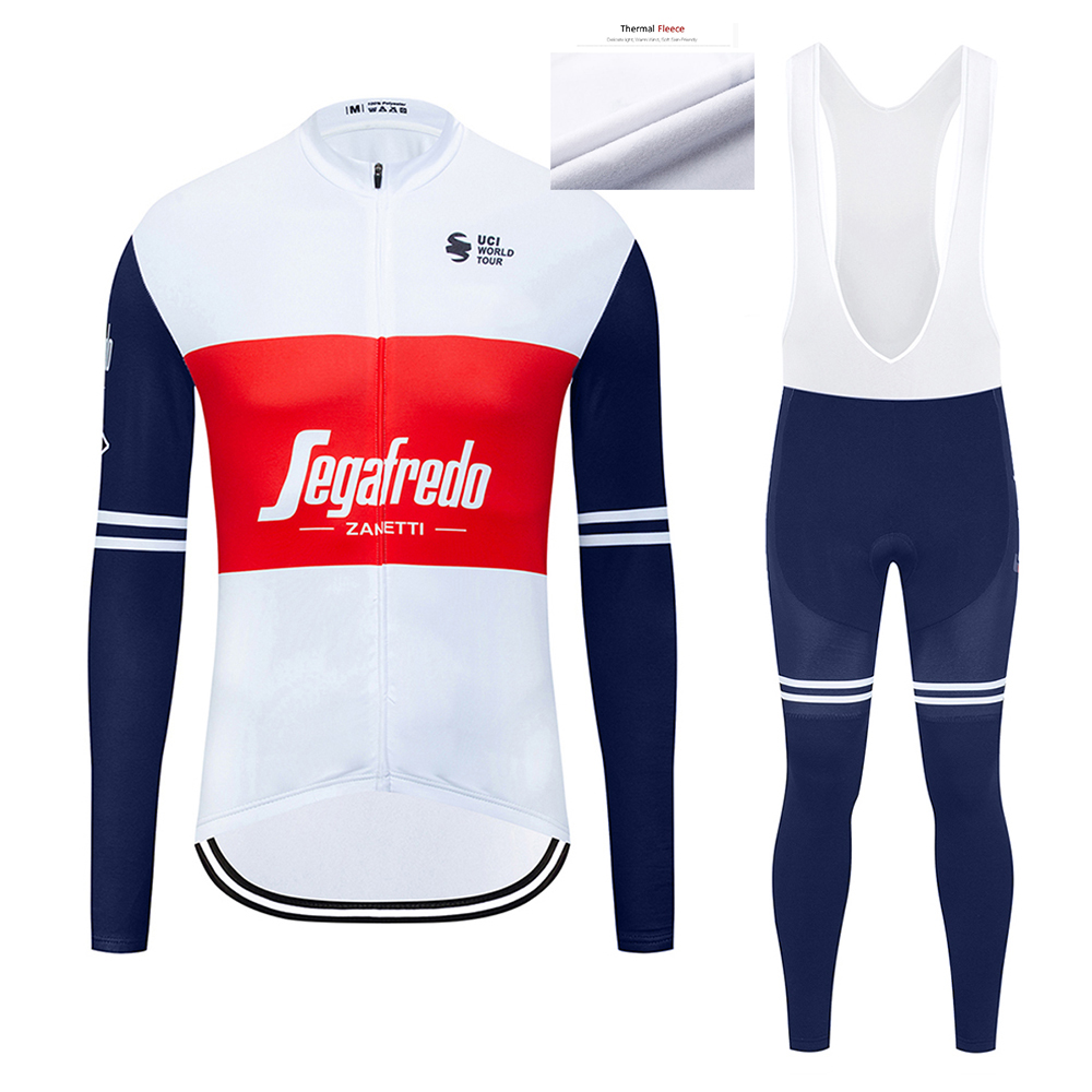 2020 Pro Team Winter Thermal Fleece Cycling Clothes Mens Long Sleeve Jersey Suit Outdoor Riding Bike MTB Clothing Bib Pants Set|Cycling Sets| |  - title=