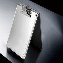 A4/A5 Aluminum Alloy Writing Clip Board Antislip File Hardboard Ruler Paper Hold School Office Supplies C26