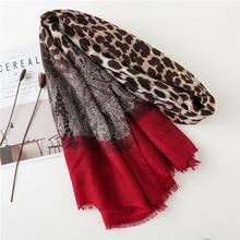 KYQIAO 2020 di marca Delle Donne chic red Leopard Dot Nappa Viscosa Sciarpa Dello Scialle di Stampa Molle Dellinvolucro Pashmina Sjaal Musulmano Hijab Snood