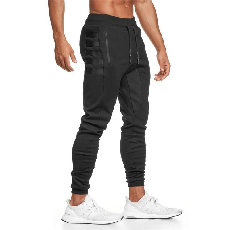 Novo dos homens jogger sweatpants casual magro calças de algodão ginásios fitness workout calças masculinas primavera esporte swearpants trilha bottoms