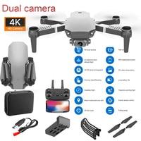 Nuevo Mini Drone S70PRO SilverGray Drone WIFI 4K Cámara Dual de HD altura-mantener plegable FPV de la altura de mantenimiento Drone RC Quadcopter Drone
