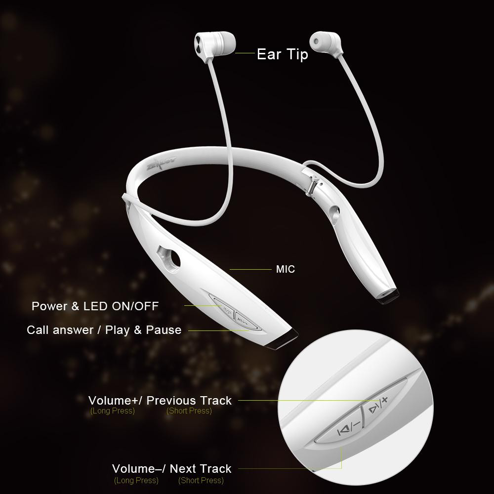 Image 4 - Zealot H1 Wireless Headphone Sport Running Waterproof Bluetooth Earphone Foldable Fashion Stereo Bluetooth Headset with Mic-in Phone Earphones & Headphones from Consumer Electronics