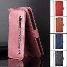 Negen Kaarten Voor Huawei P40 P20 P30 P Smart Z Plus Lite Pro 2019 Case Leather Flip Wallet Stand Cover telefoon Gevallen