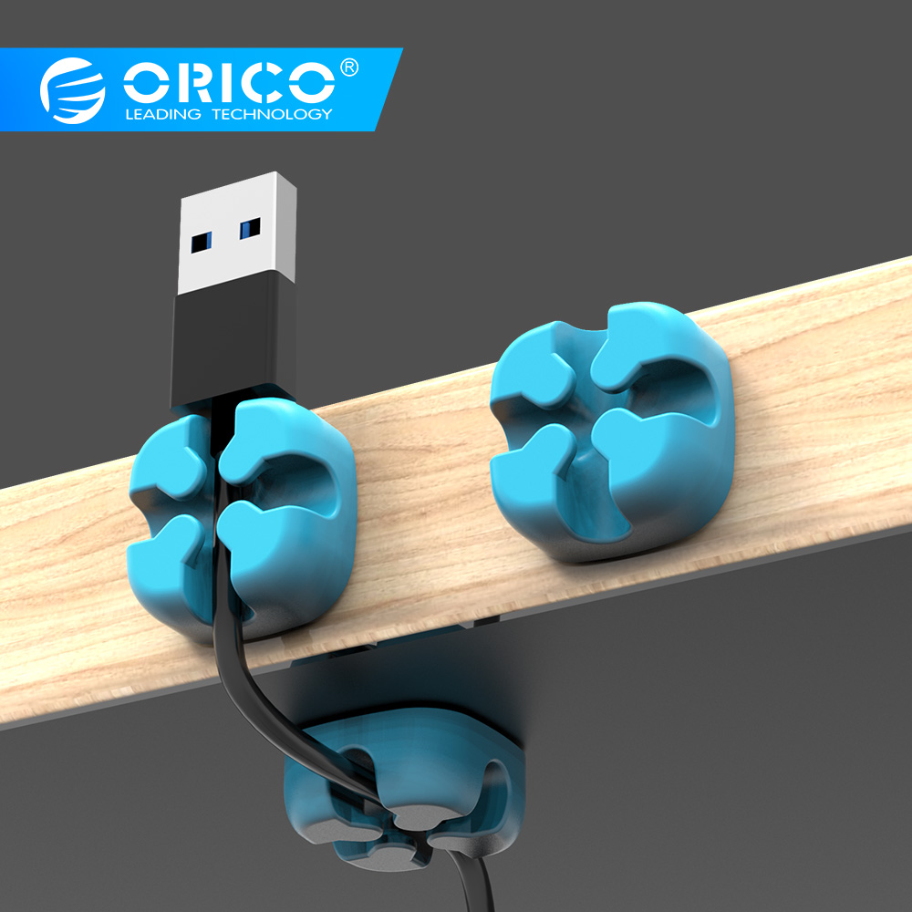 ORICO 1Pcs/3Pcs/5Pcs Colored Cable Winder Wire Organizer USB Earphone Holder Cord Management Protector