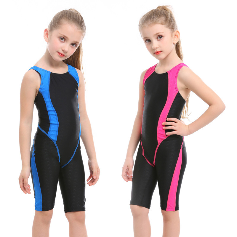 KID'S Swimwear GIRL'S Baby Cute One-piece Swimwear Big Virgin Girls Short One-piece Swimming Suit Swimming Training