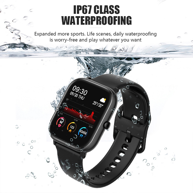 SQR P8 SE Smart Watch Men Women 1.4 Inch Fitness Tracker Full Touch Screen Ip67 Waterproof Heart Rate  Monitor for iOS Android 4