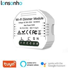 Lonsonho Smart Wifi Dimmer Switch Relay Tuya Smart Home Automation Module Remote Control Compatible Alexa Google Home Mini