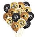 Chicinlife с днем рождения 30 40 50 60 латексные шары для взрослых день рождения 30th 40th 50th 60th воздушный шар