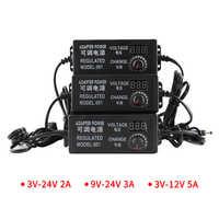 AC DC 110V 220V DC 3V 9V 12V 24V adaptador de fuente de alimentación Universal ajustable cargador pantalla de visualización transformadores 220V a 12V