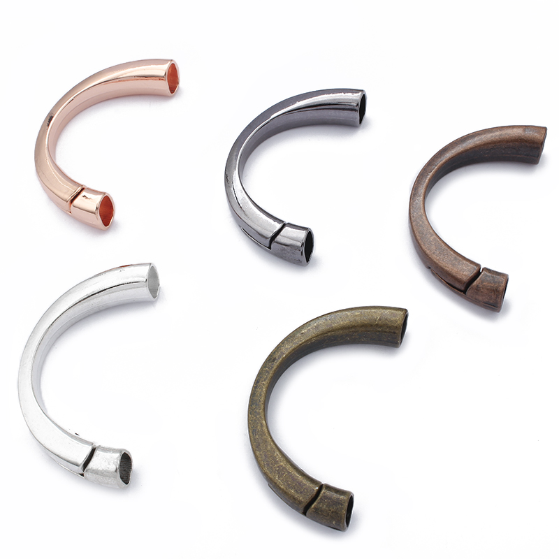 2pcs Half Cuff Magnetic Hook Clasps For 10x6mm Licorice Leather Cord DIY Bracelet Buckle Jewelry Making Findings